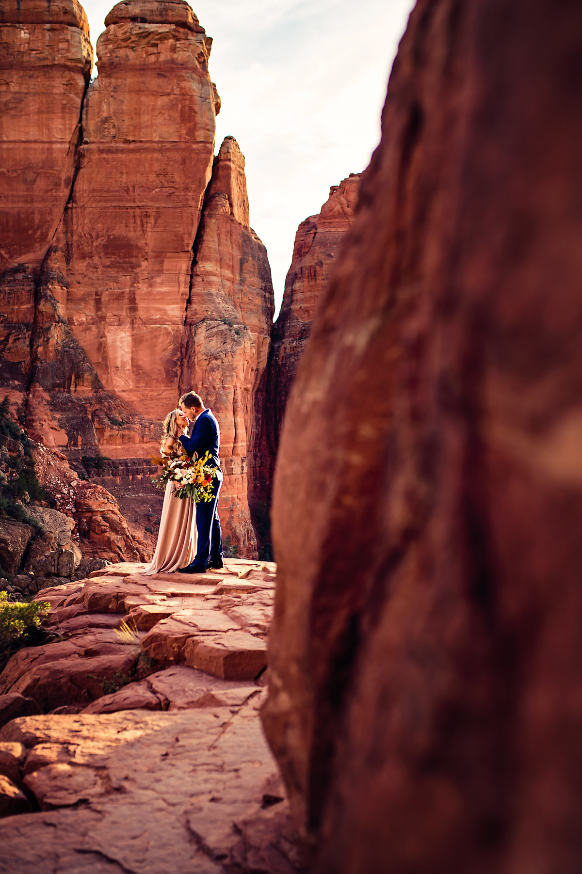 An adventurous Arizona Elopement right on Cathedral Rock in Sedona, Arizona