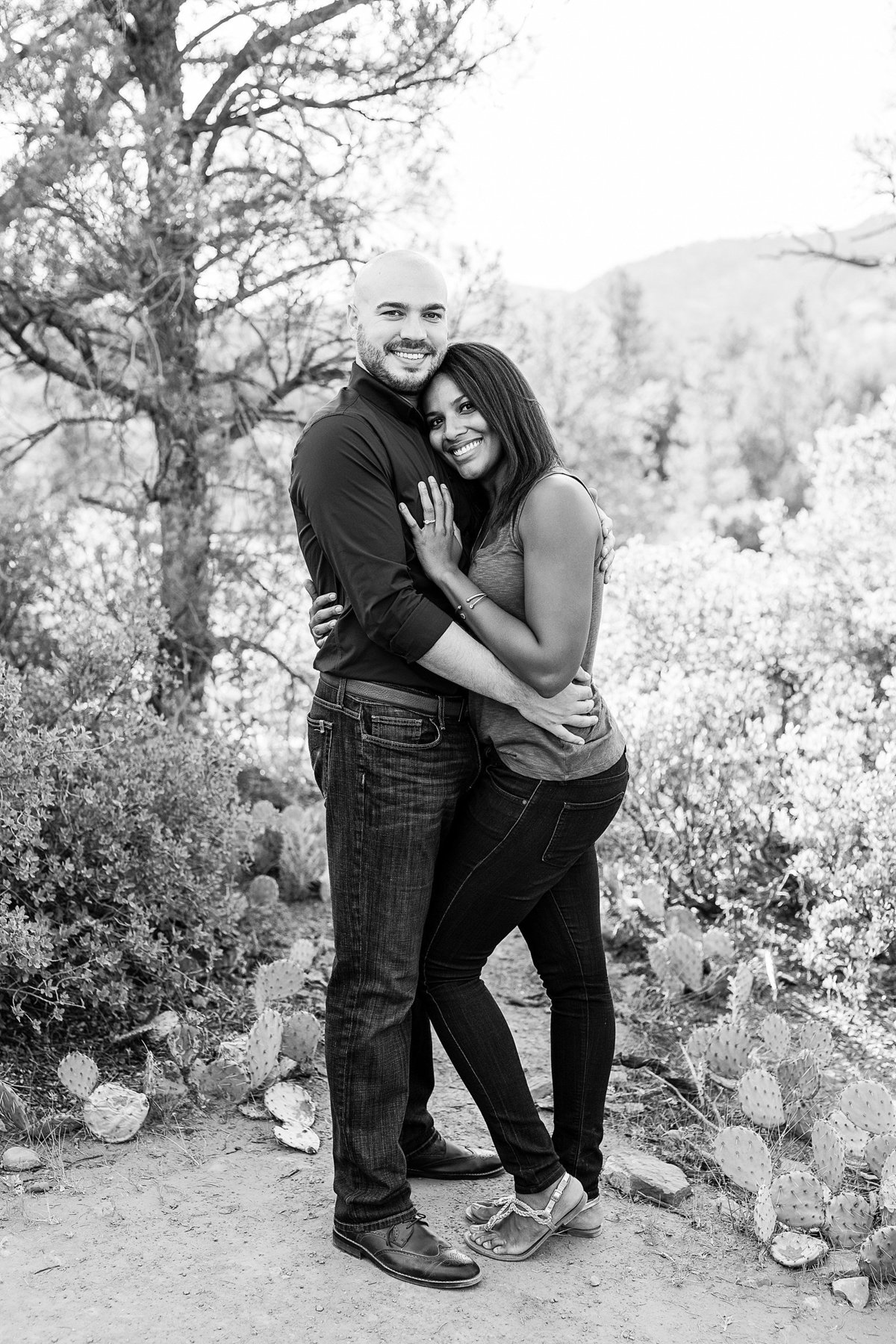 Monica + Austin - Sedona Engagement Session - Cathedral Rock - Lunabear Studios_0184