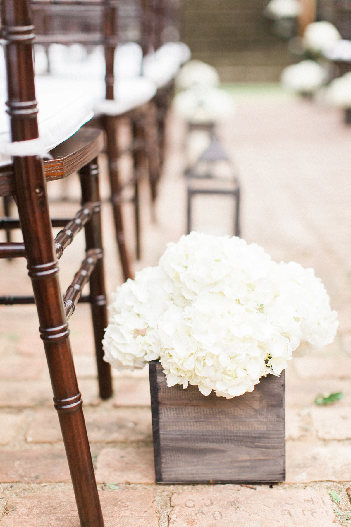 White Rose Wedding Ceremony Decor