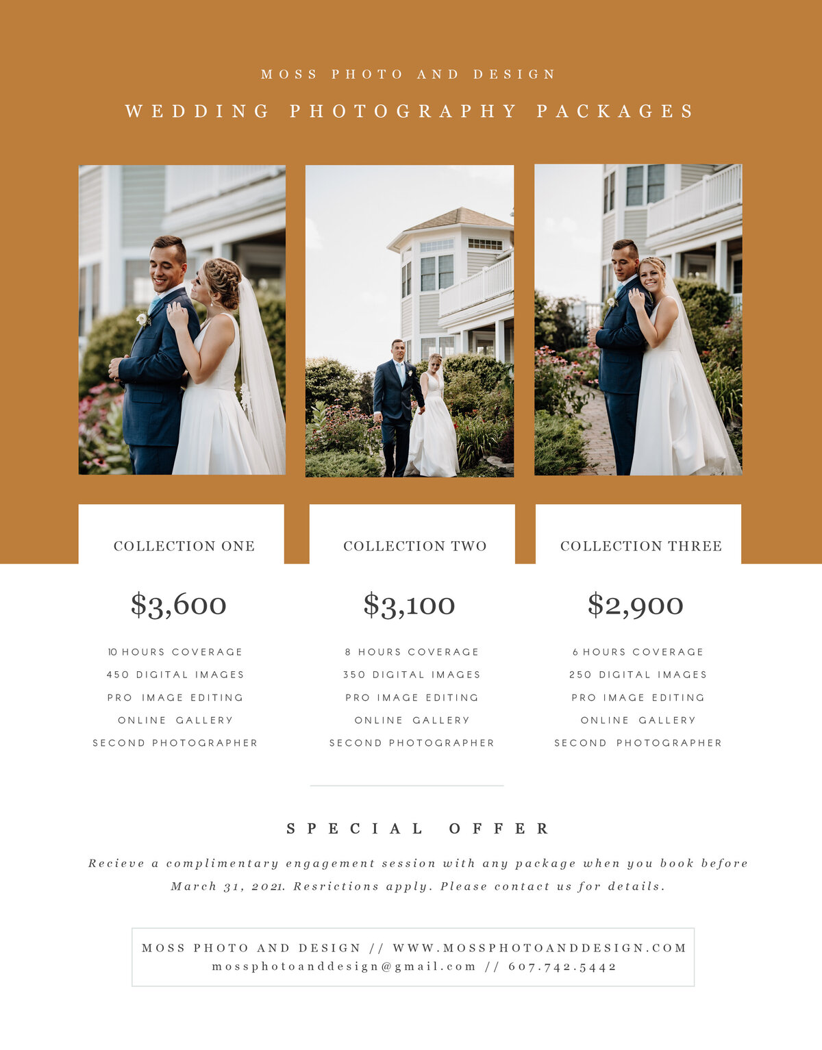 Moss Photo and Design Price Sheet Brown Branding Updated Pricing