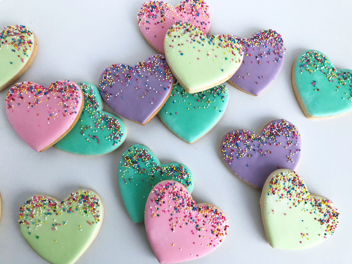 Whippt Desserts - Valentines Heart Sprinkles Cookies 2019
