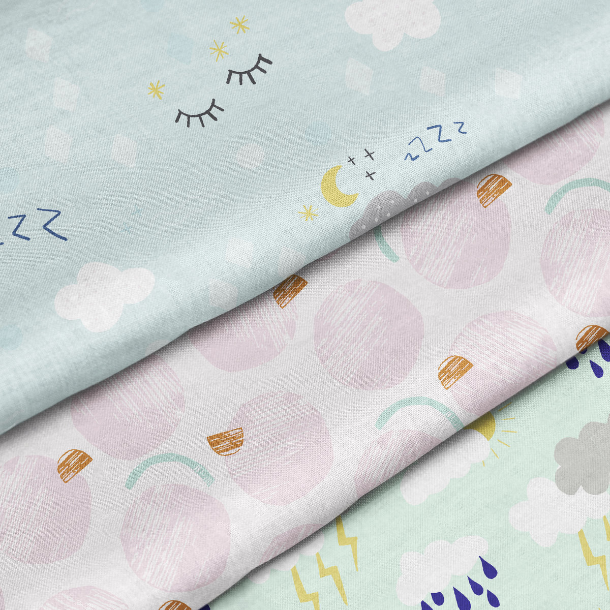 fabricbymetre-cloudy chance of fun coll