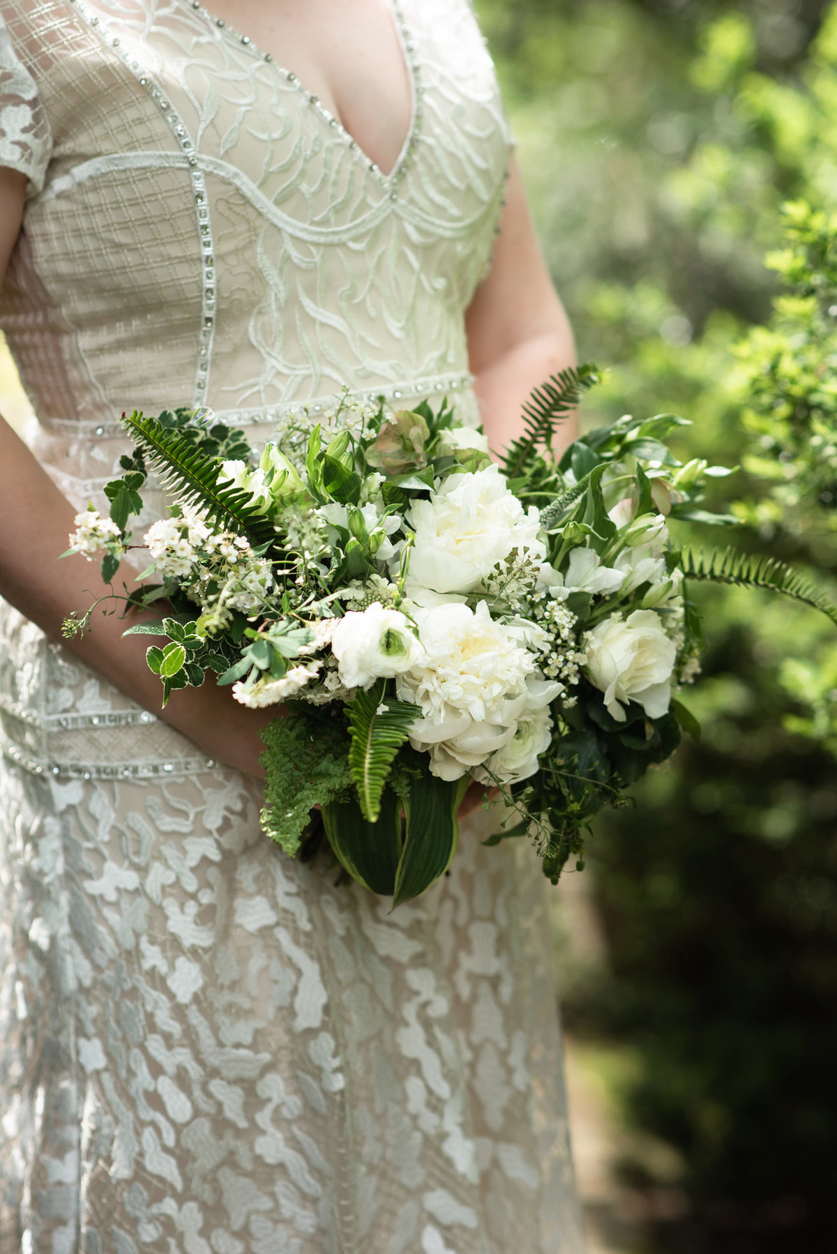 everbloom designs green and white bouquet