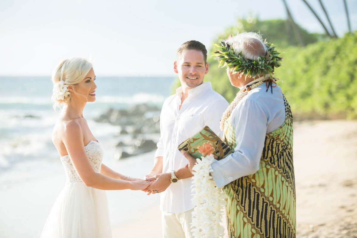 Maui vow renewal on the beach.
