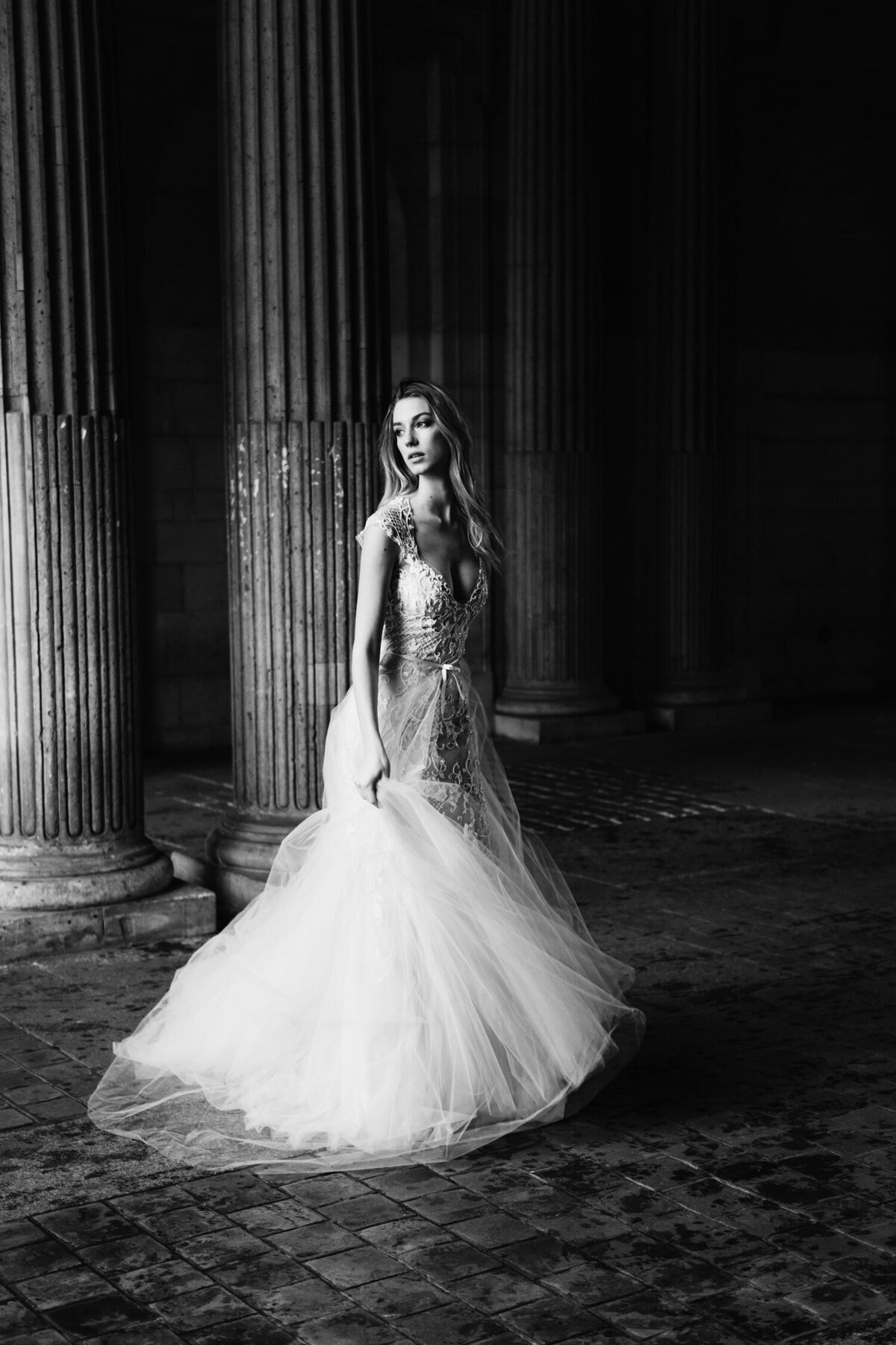 Katie Mitchell, Monique Lhuillier Bridal Paris France Wedding Trine Juel Hair and makeup 12