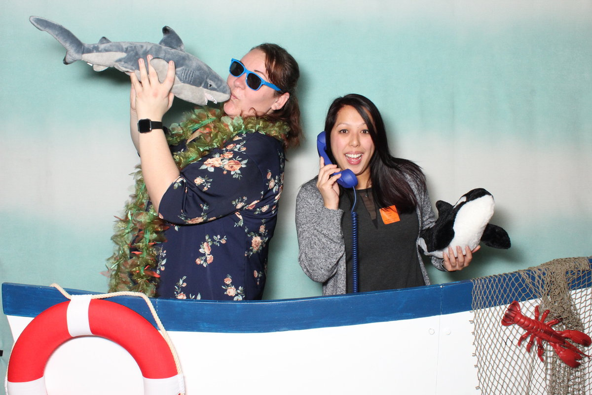 ocean theme photo booth