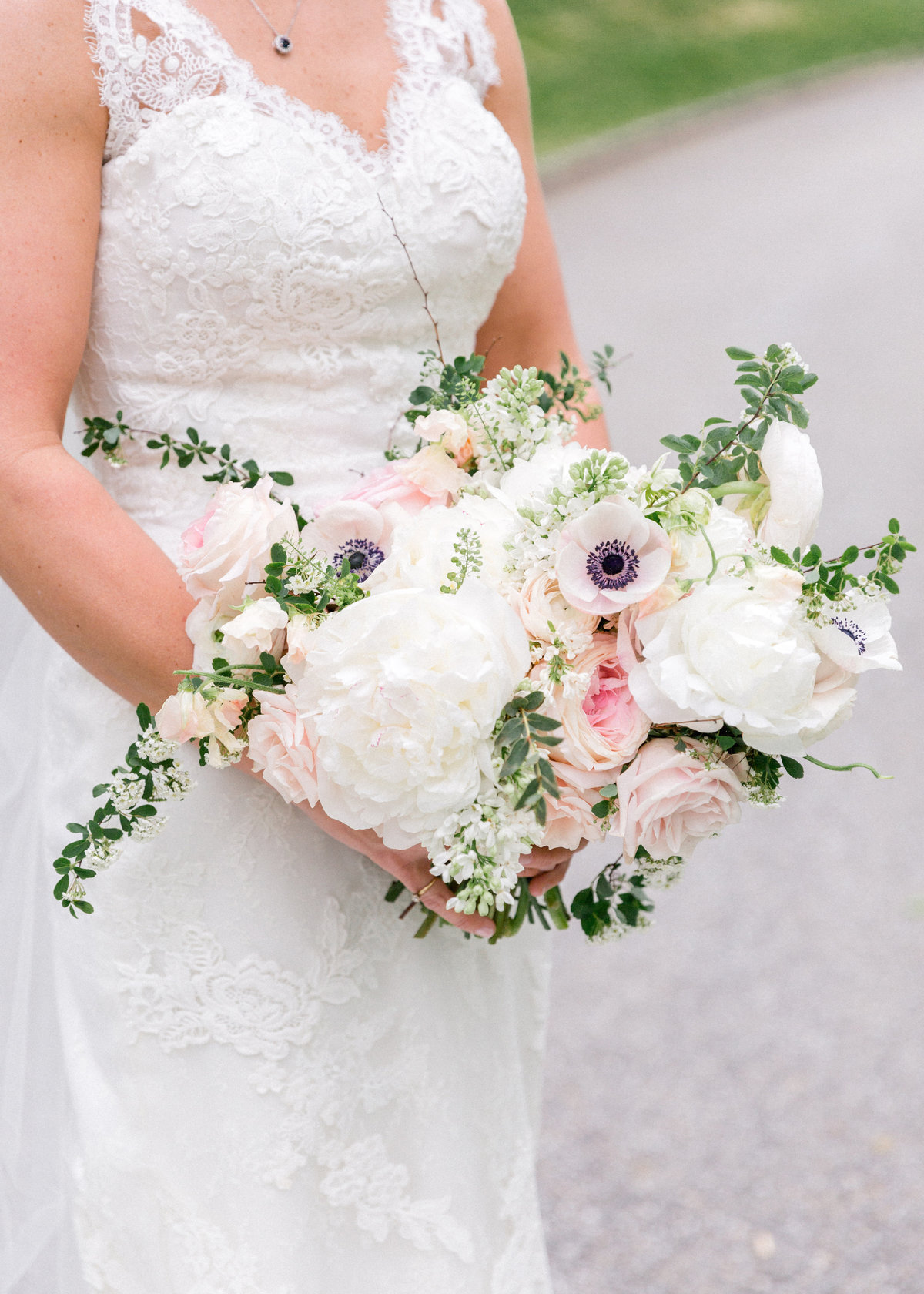 Wintherthur wedding spring bridal bouquet