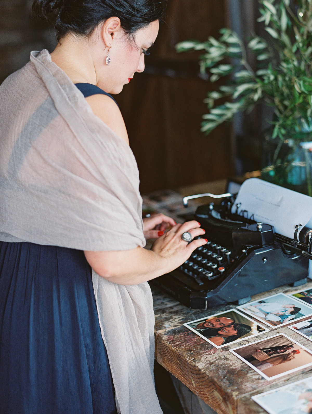 Typewriter guestbook Destination wedding Oregon