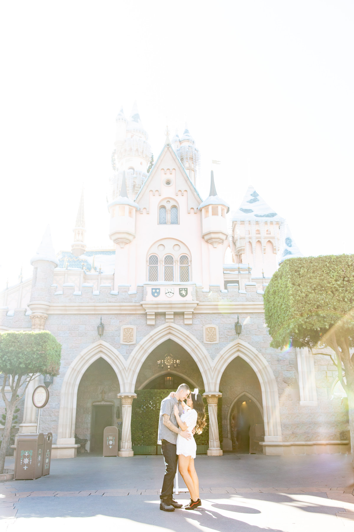 Disney Castle engagement photo