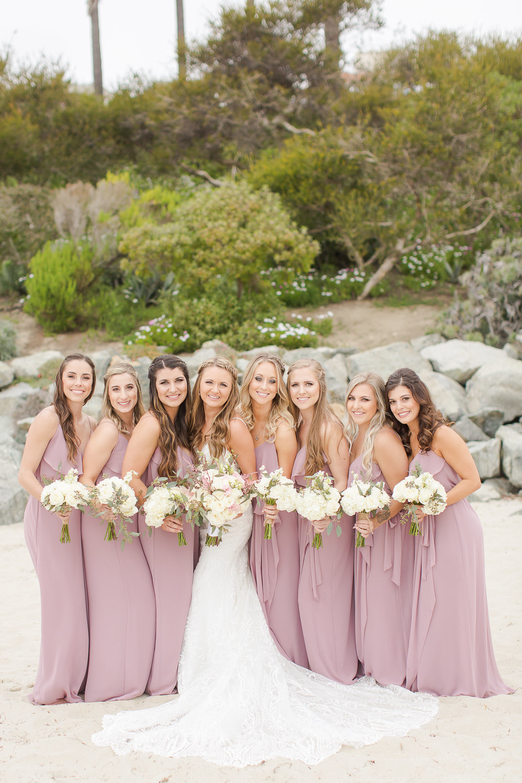 bride and bridesmaids nature outdoor wedding colorado wedding romantic