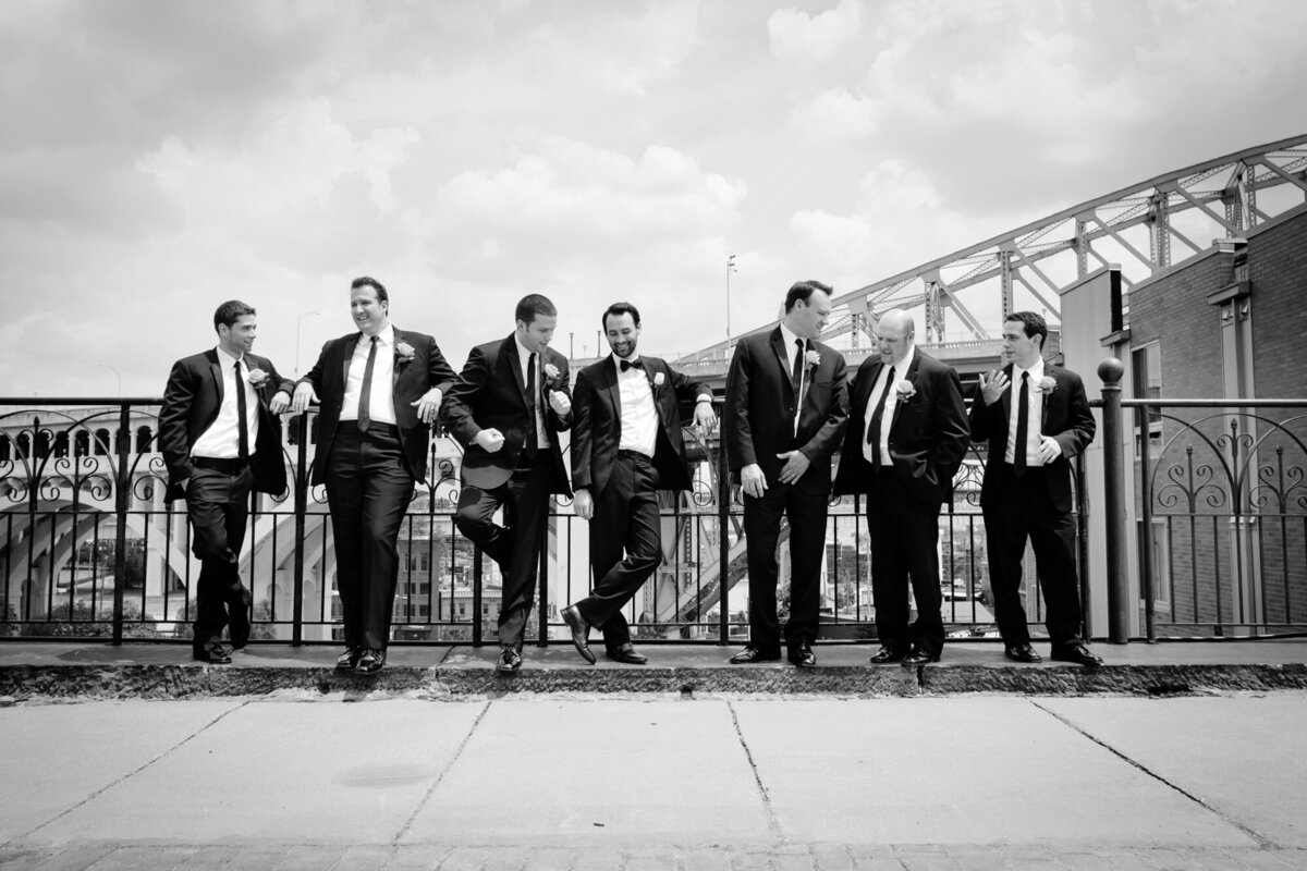 groomsmen sitting together