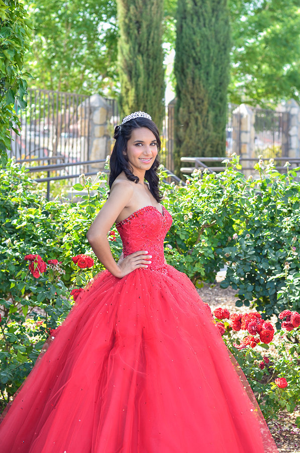 Quinceanera dress and tiara