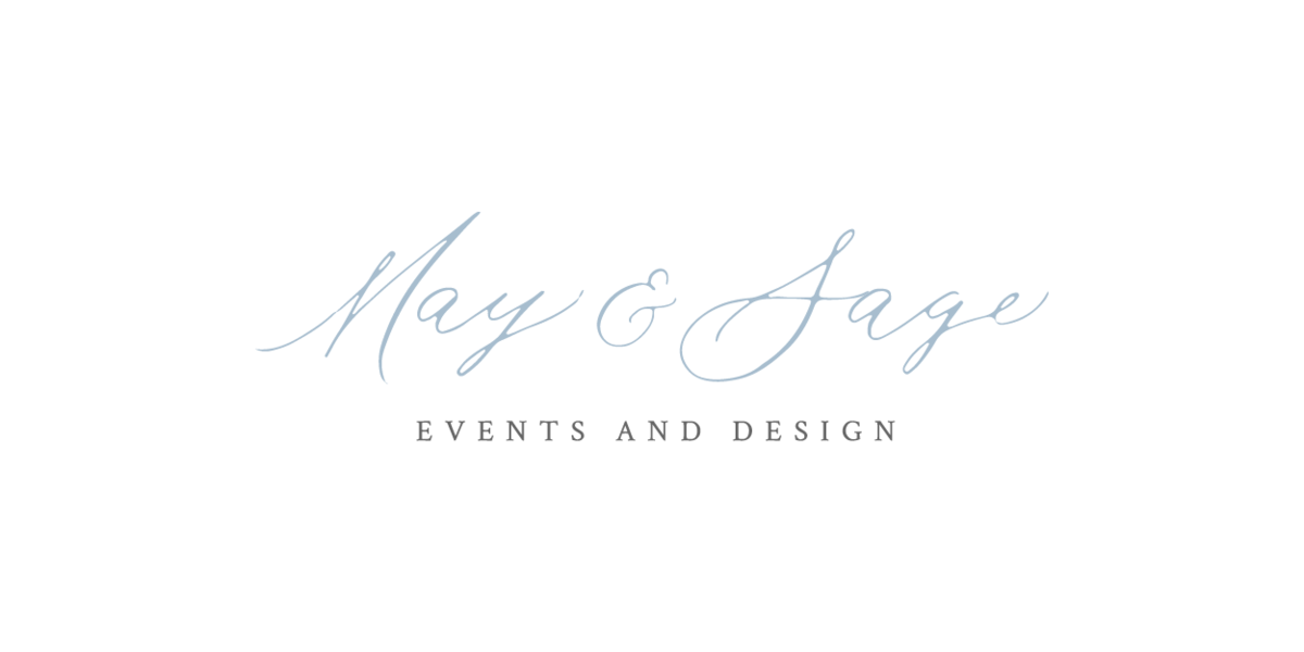 May & Sage  Custom  Calligraphy Logo