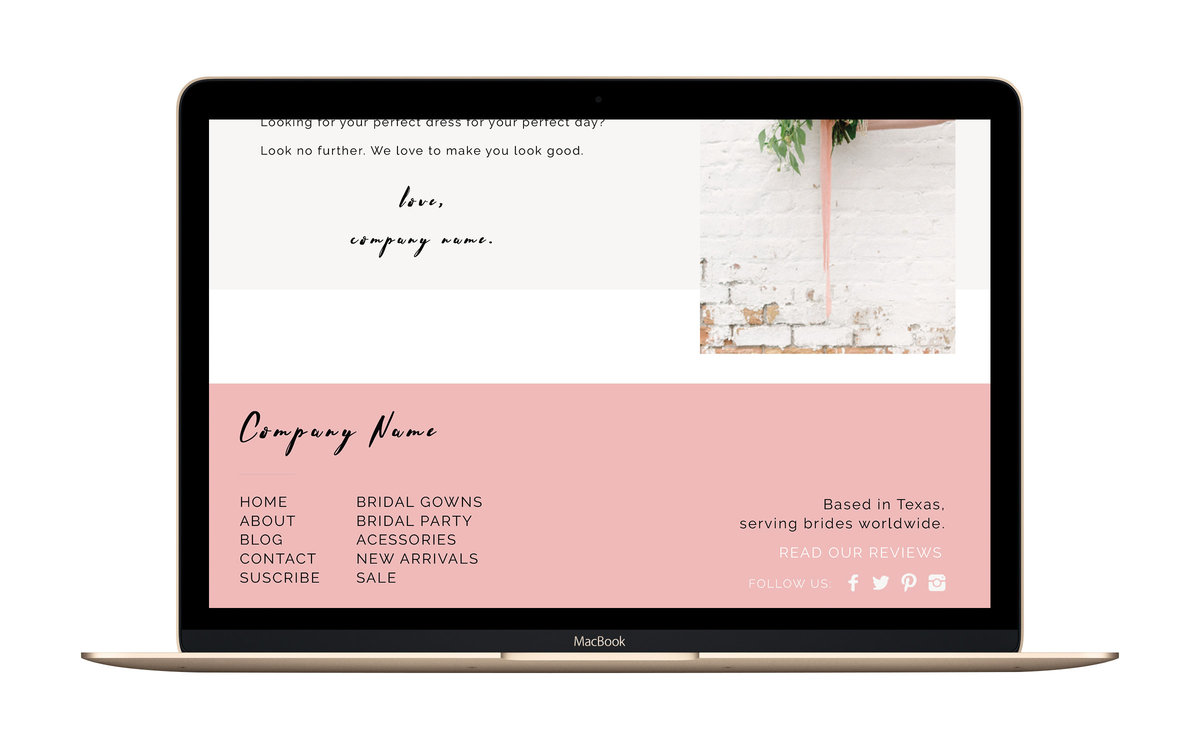 Wedding Website Footer