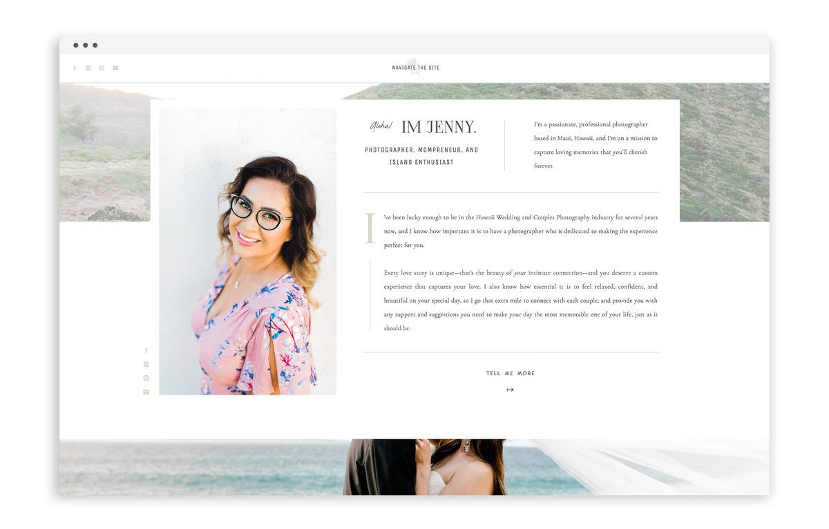 Jenny Vargas Photography - Custom Brand and Showit Web Design by With Grace and Gold - Showit Theme, Showit Themes, Showit Template, Showit Templates, Showit Design, Showit Designer - 1