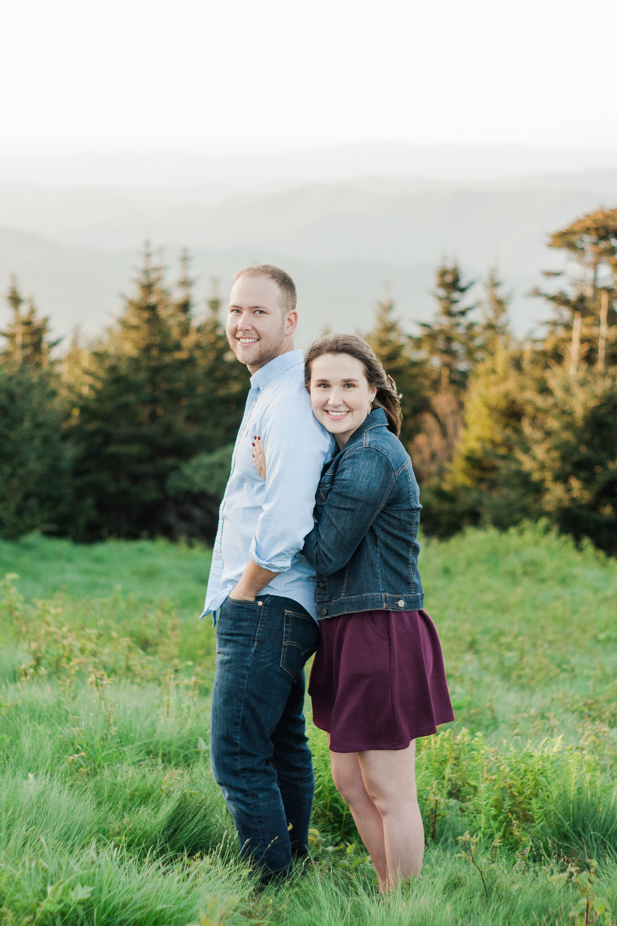 Adventurous engagement photographed at Roan Mountain by Boone Photographer Wayfaring Wanderer.