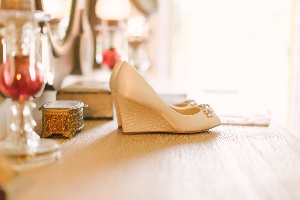 Shoes at 1880 Union Hotel Wedding