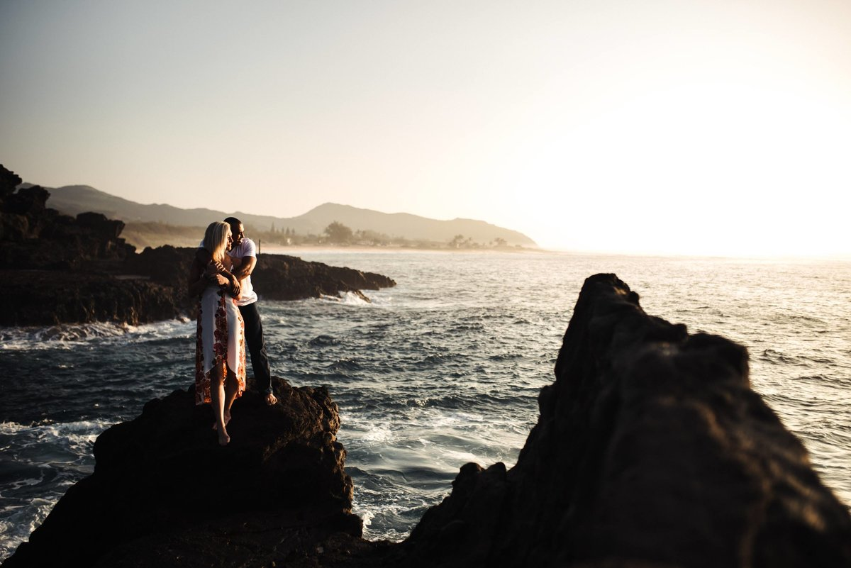 Eternity Beach Honolulu Hawaii Destination Engagement Session - 21