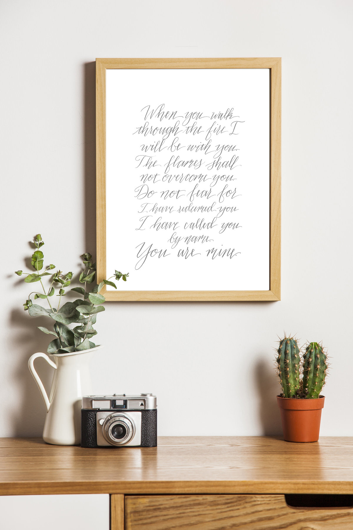 calligraphy quote framed