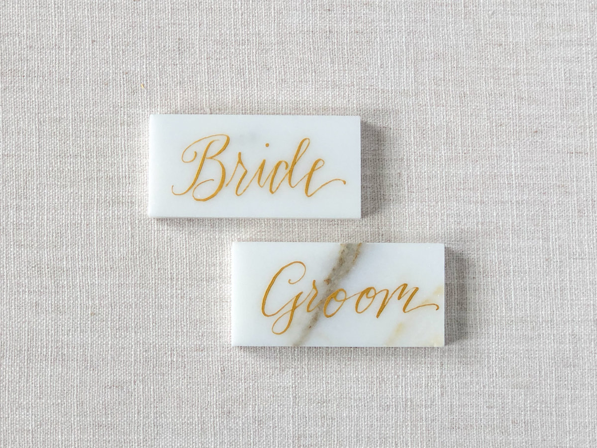 Rectangle Marble Place Cards