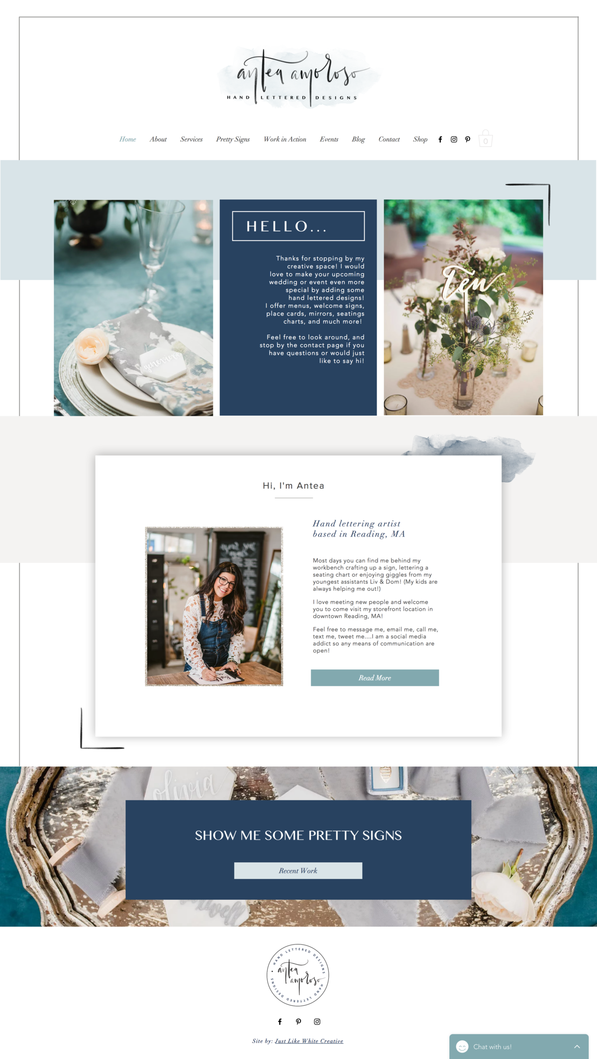 Detailed  website design by Tribble Design Co.