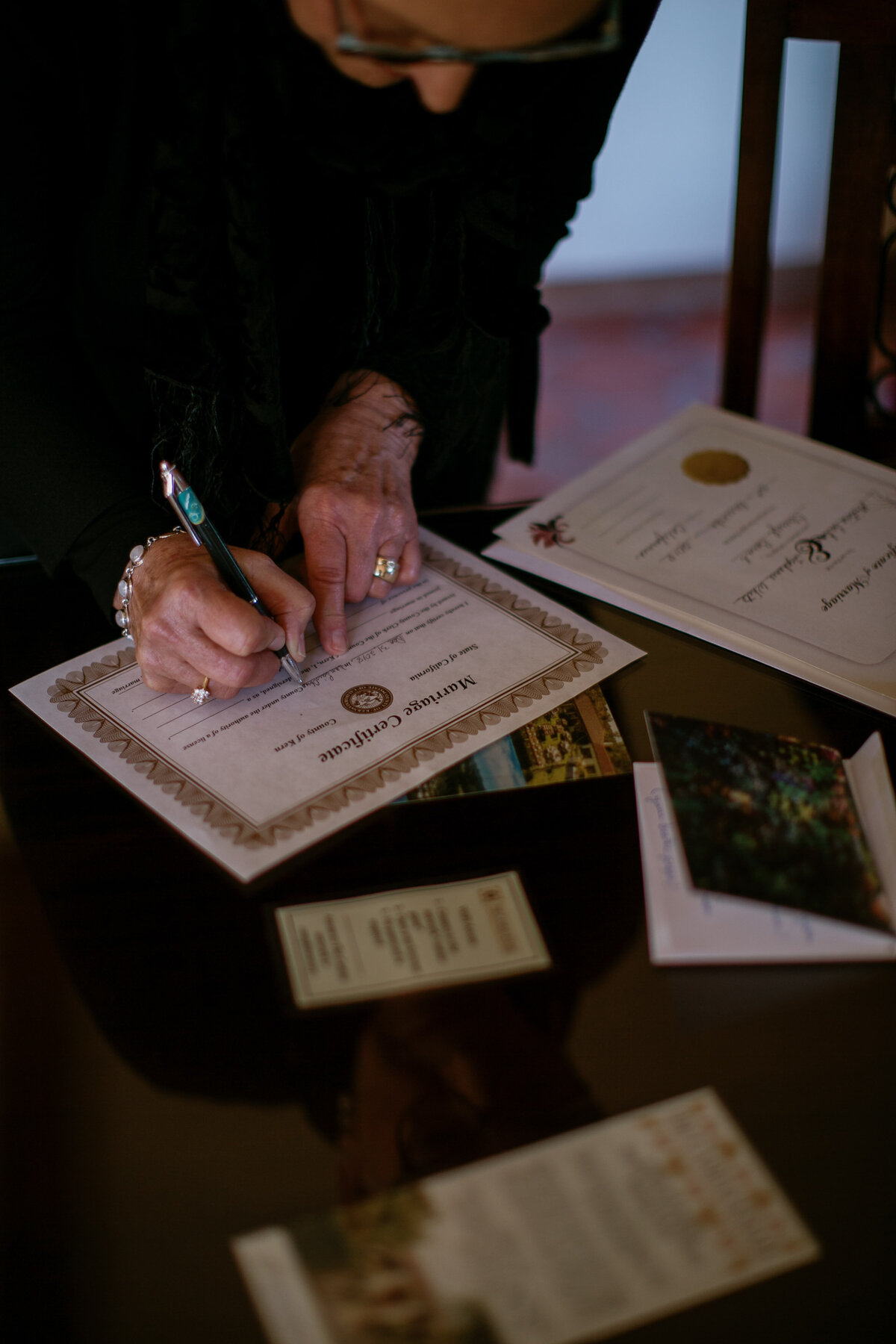officiant signing license