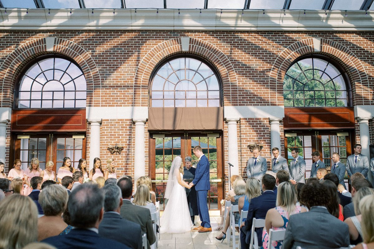 Wedding ceremony at the Manor House in Cincinnati, Ohio