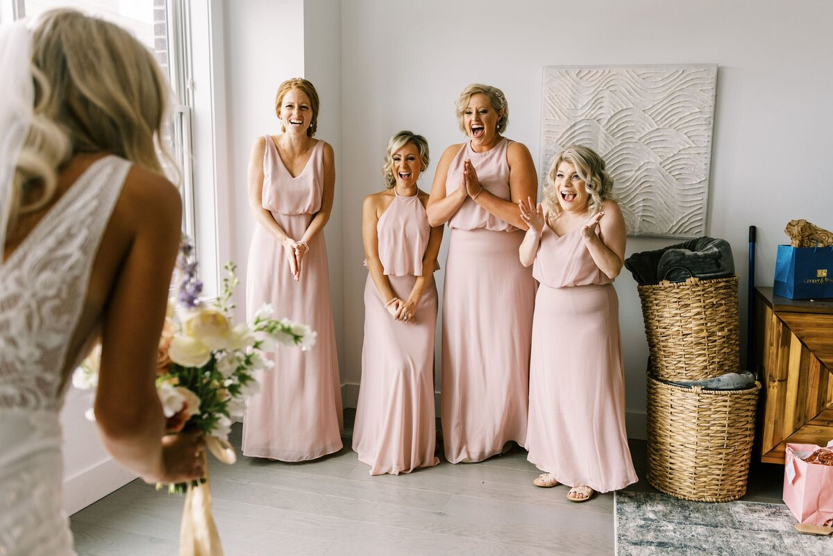The Day's Design Northern Michigan Florist Bridesmaids first Look-min
