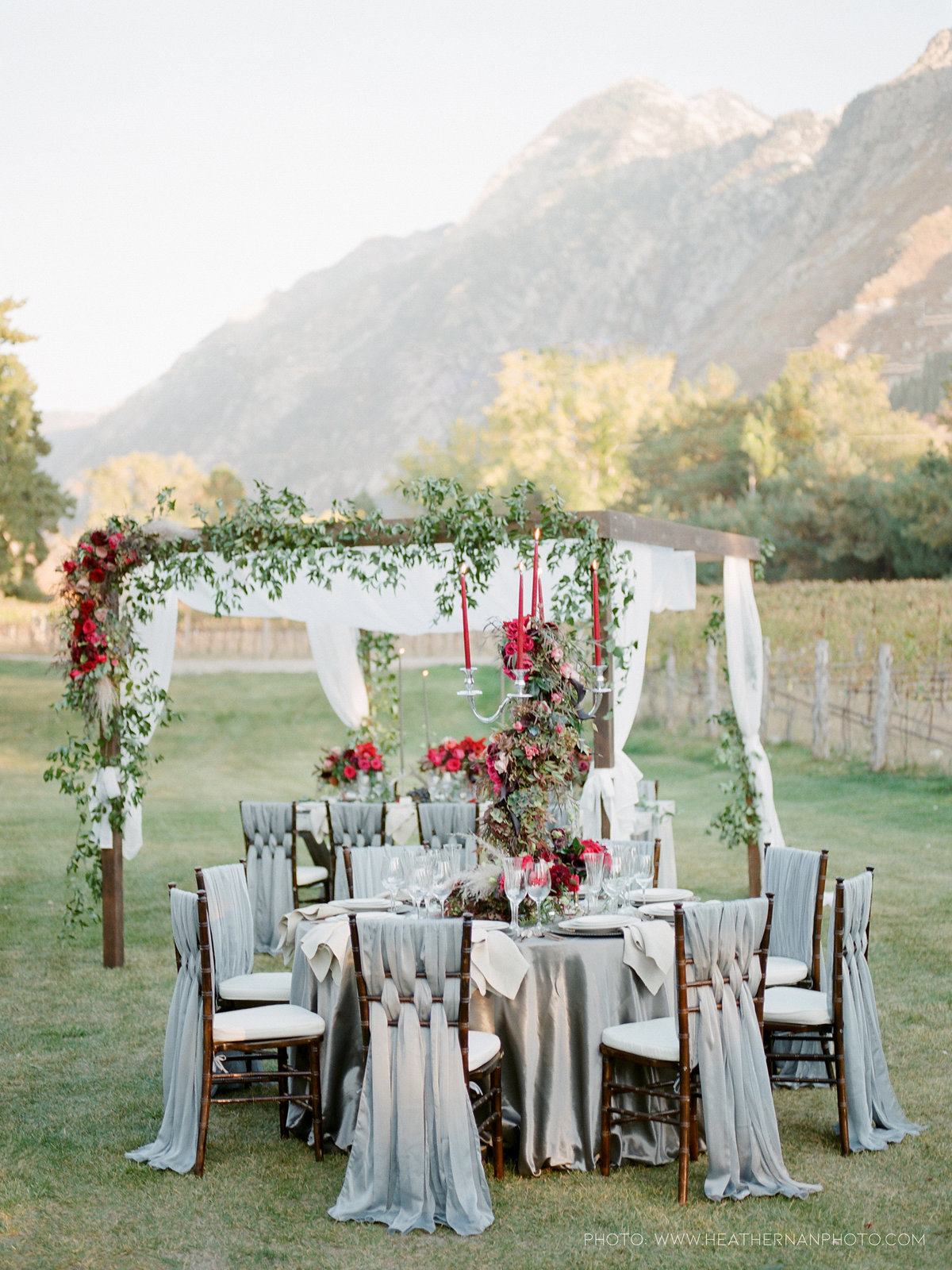 Utah Florist_Romantic Vineyard Wedding_Red Wedding Ideas-0140