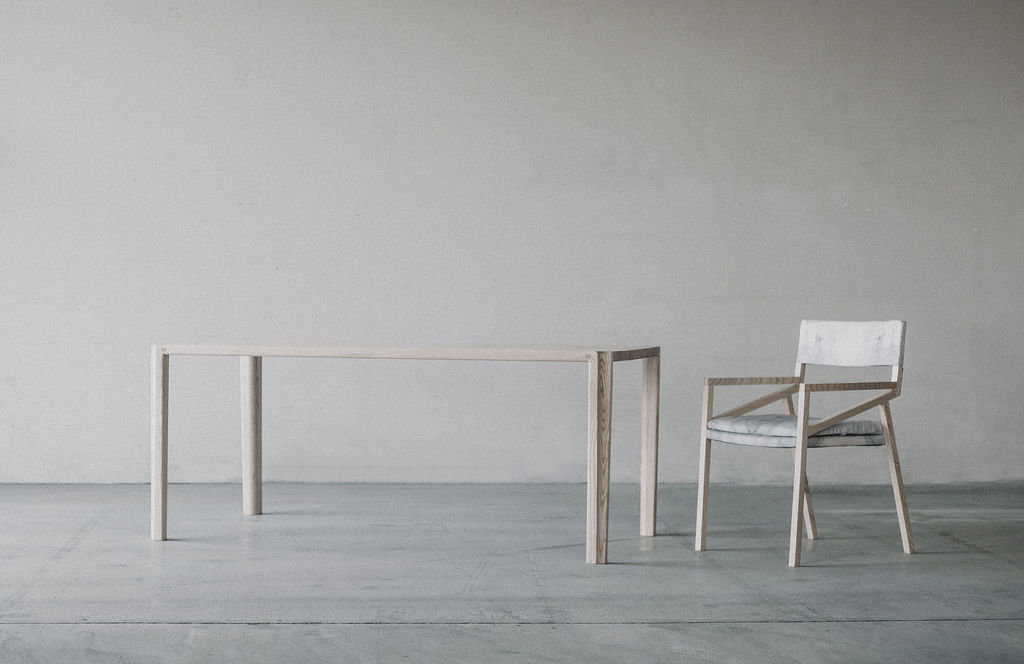 scandinavian ash table and chair