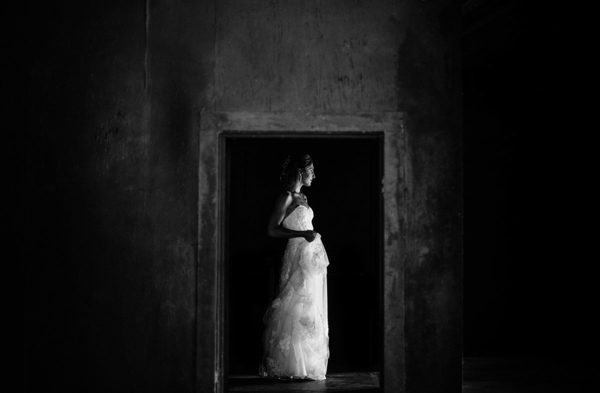 cedar lakes estate fine art wedding photography black and white portrait bride wedding day