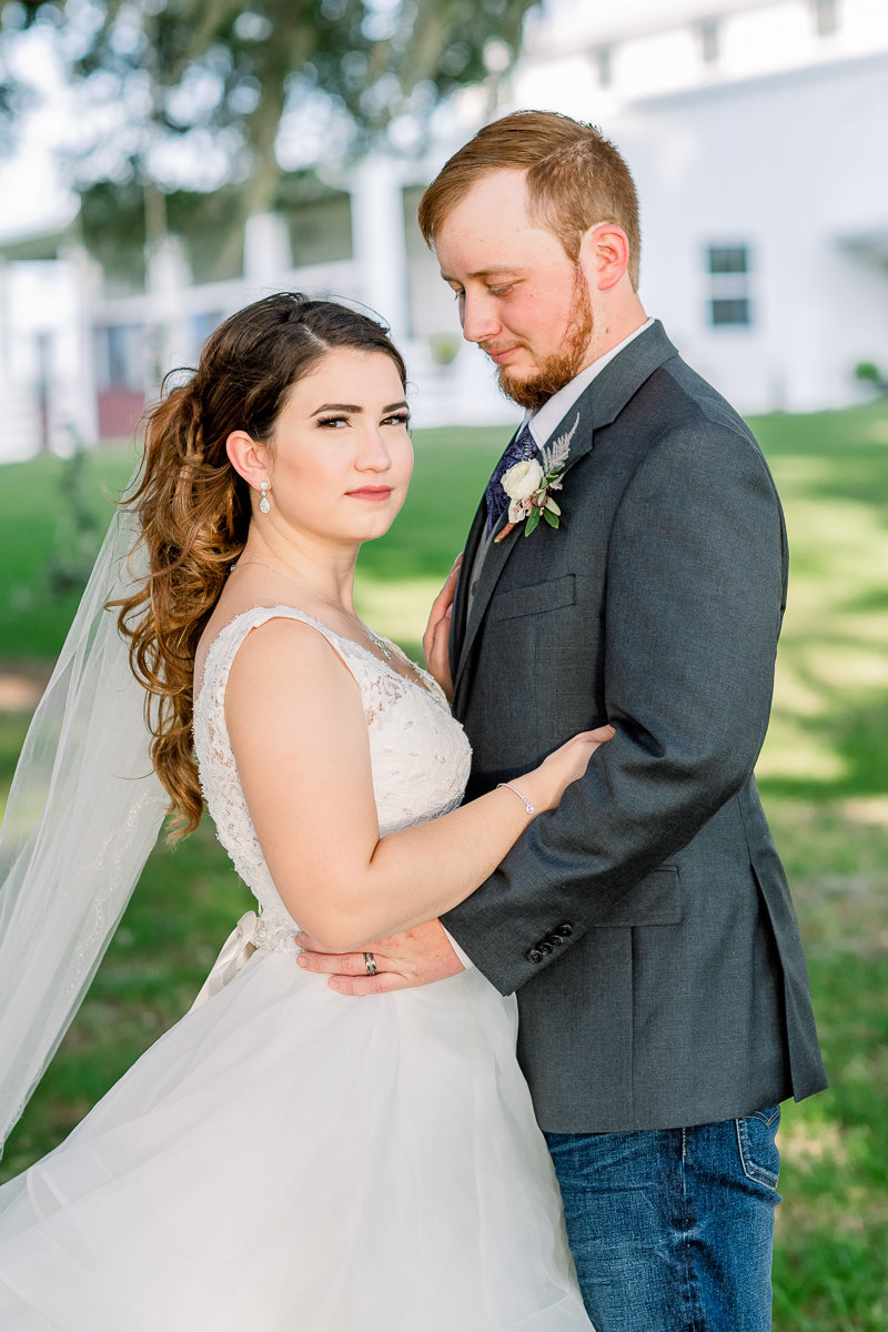 Covington Farm Wedding | Dade City Wedding Photographer | Bride and Groom Portraits-1