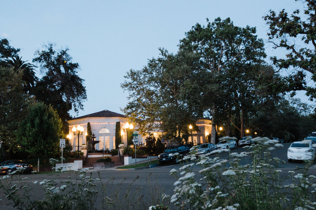 Tucked away in the heart of Midtown, VIzcaya's Pavilion glows in the evening.