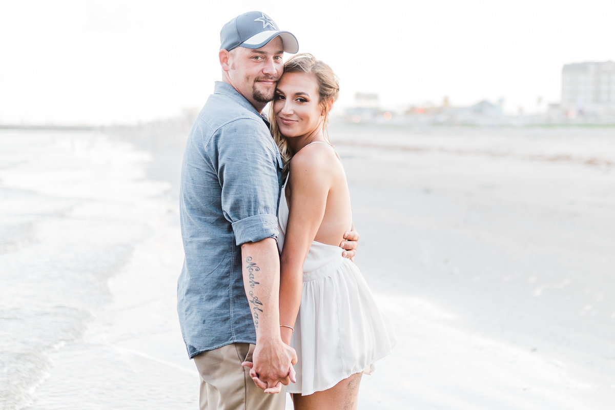 Galveston Beach Engagement Photos Colorado Mountain Wedding Photographer | Monica Evans Photography