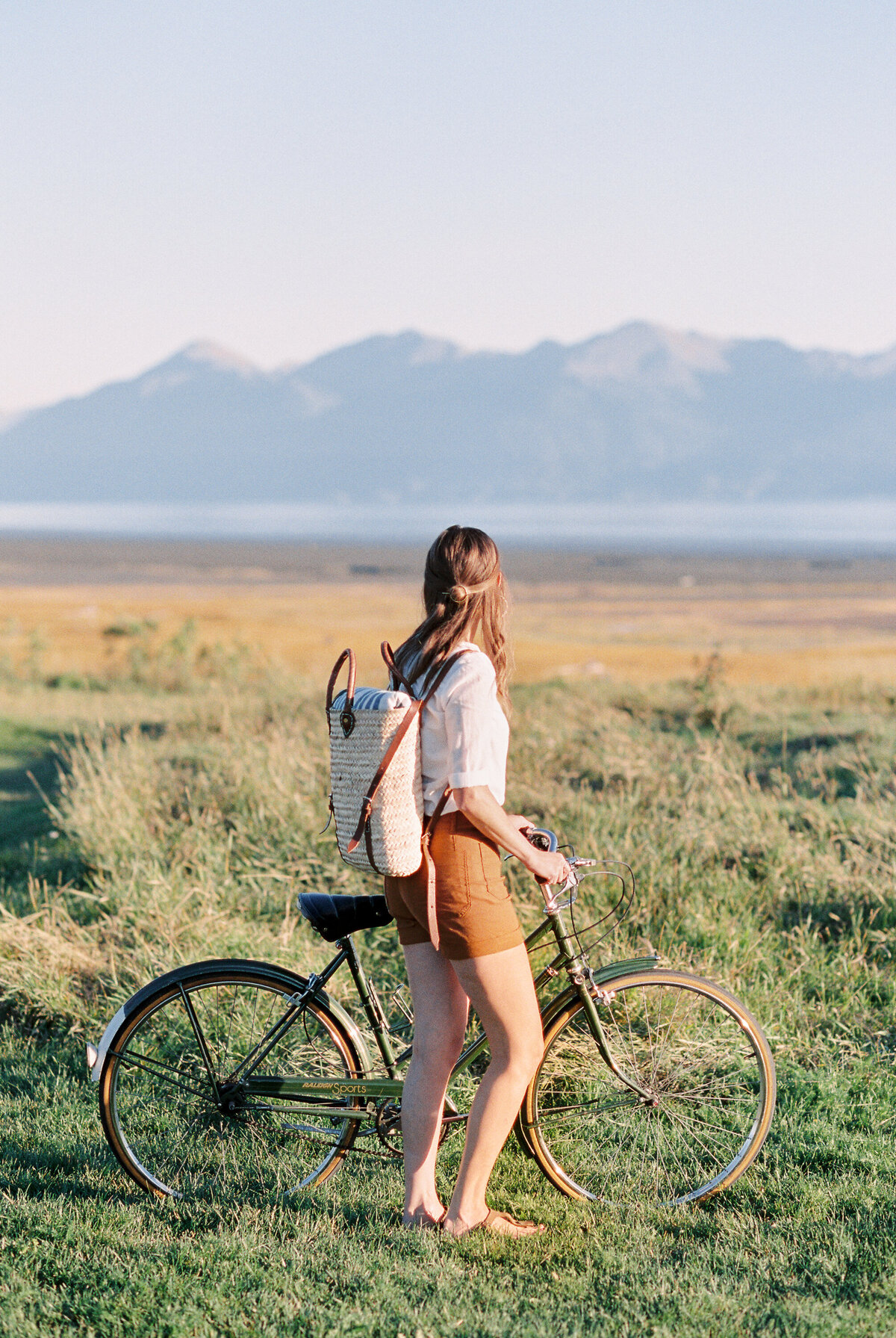 Alaska bike photoshoot
