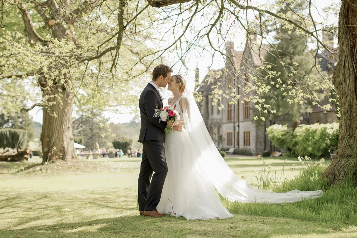 Wedding photo at Huntsham Court