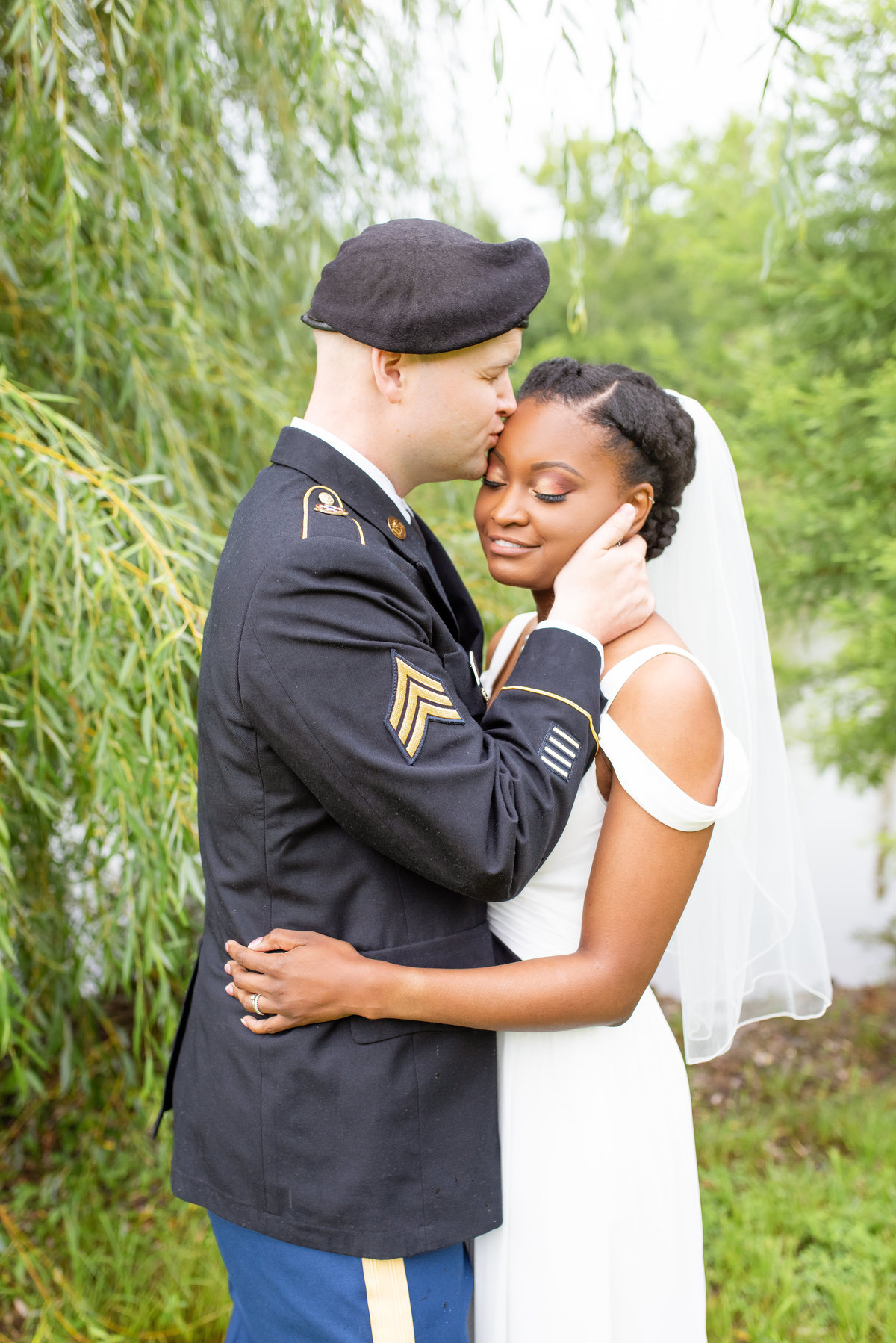 husband wife bride groom military wedding beautiful outdoor ceremony photographer