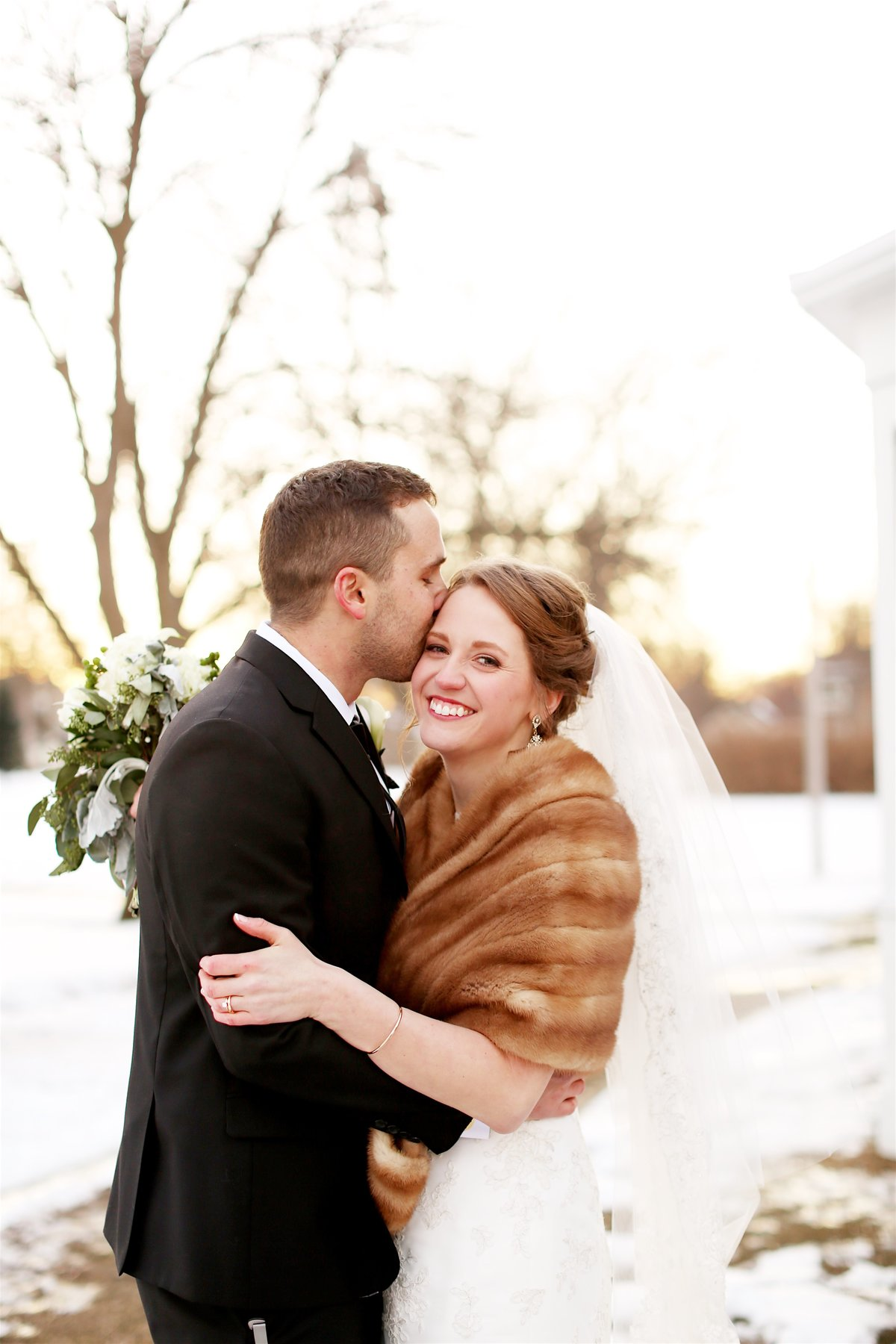 Catholic winter wedding in Belle Plaine, Minnesota
