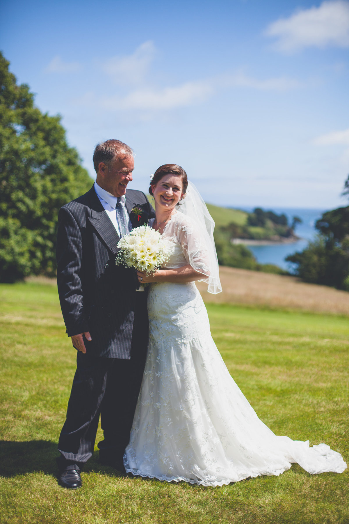 bride father helford river wedding