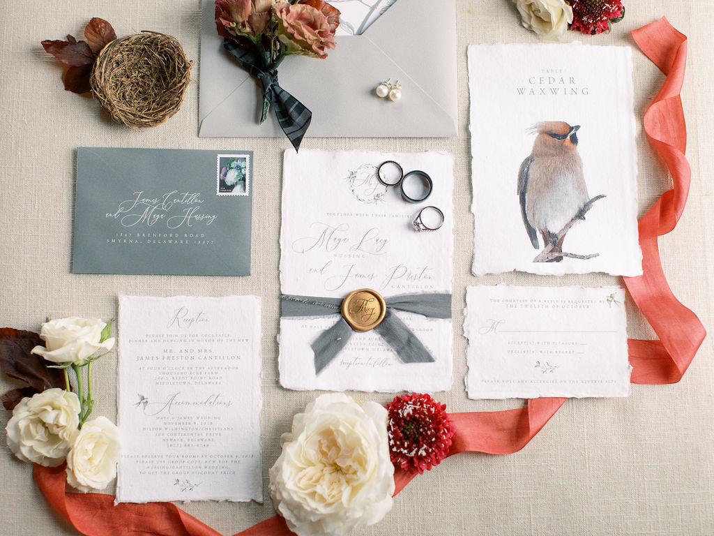Fall wedding invitation Delaware