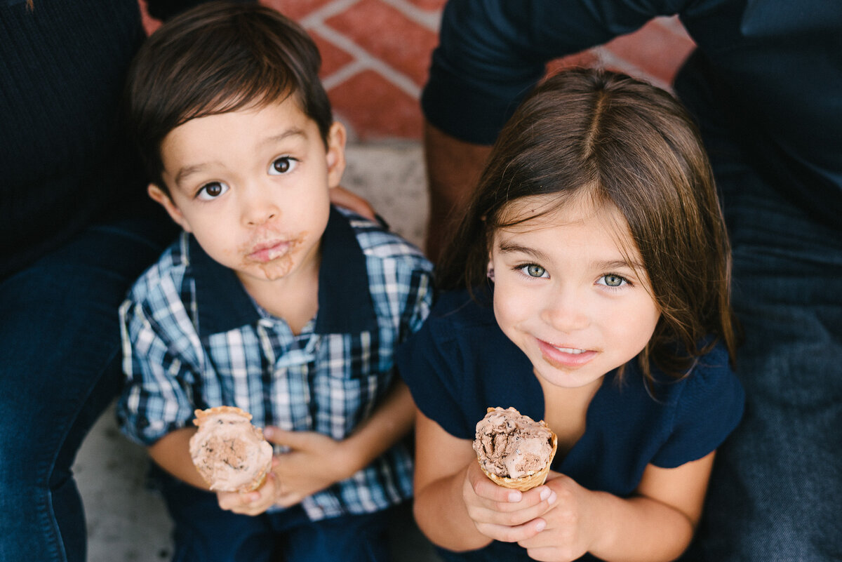 Encinitas Family Photographer-ice cream face-35