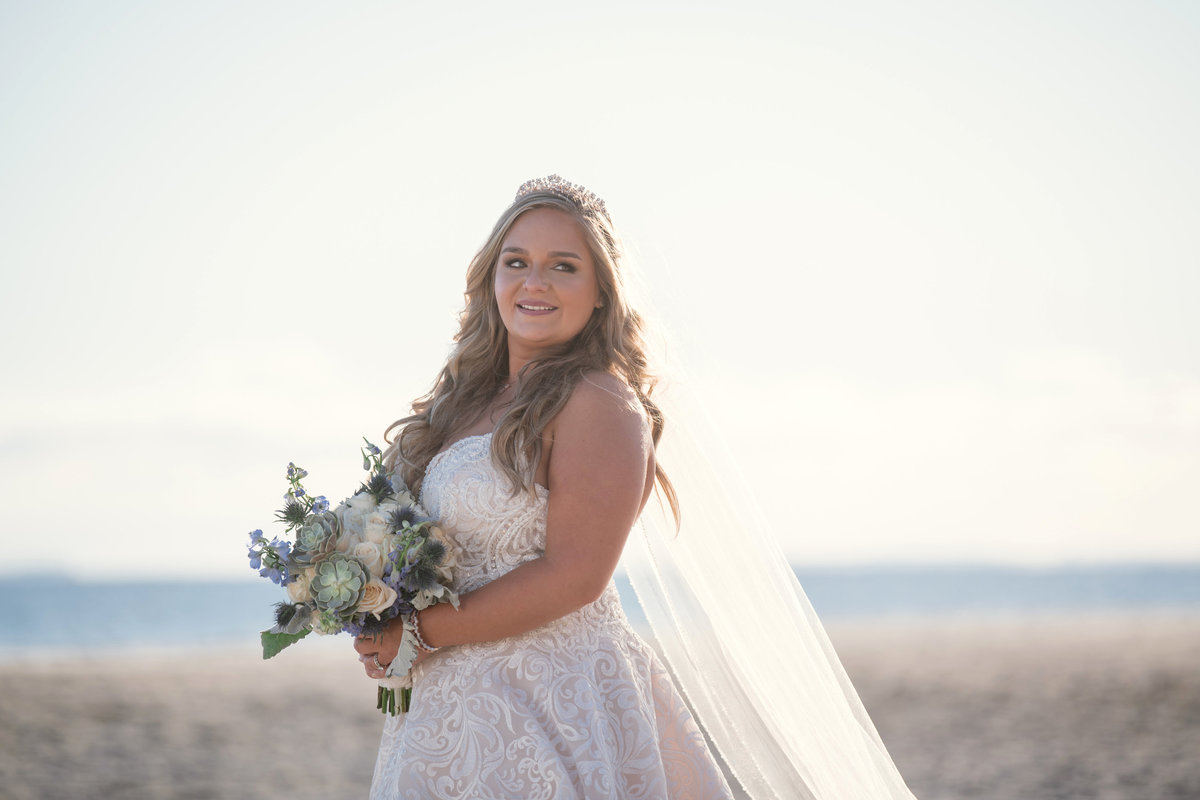 bride photo at bridgeview yacht club wedding photo