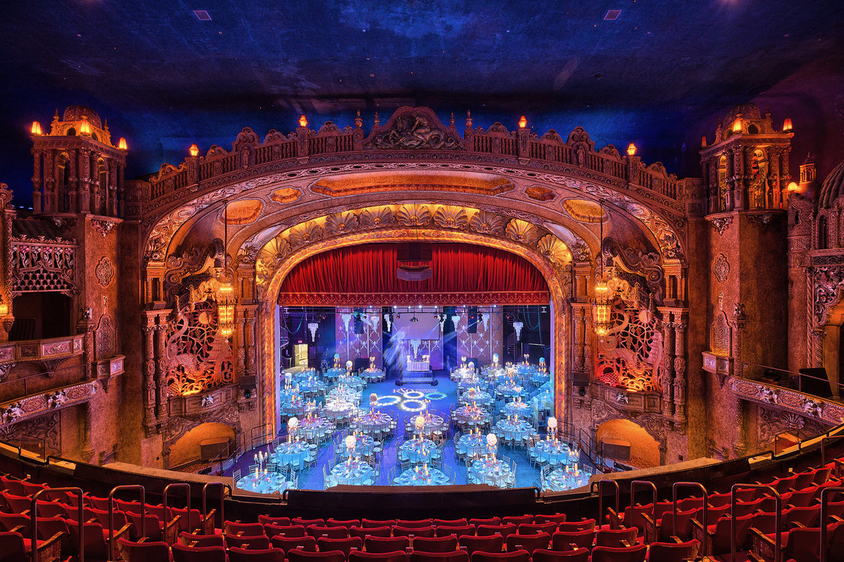 amazing photograph of coronado theater in rockford illinois