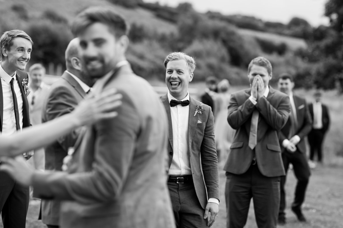 relaxed wedding photography at river cottage devon