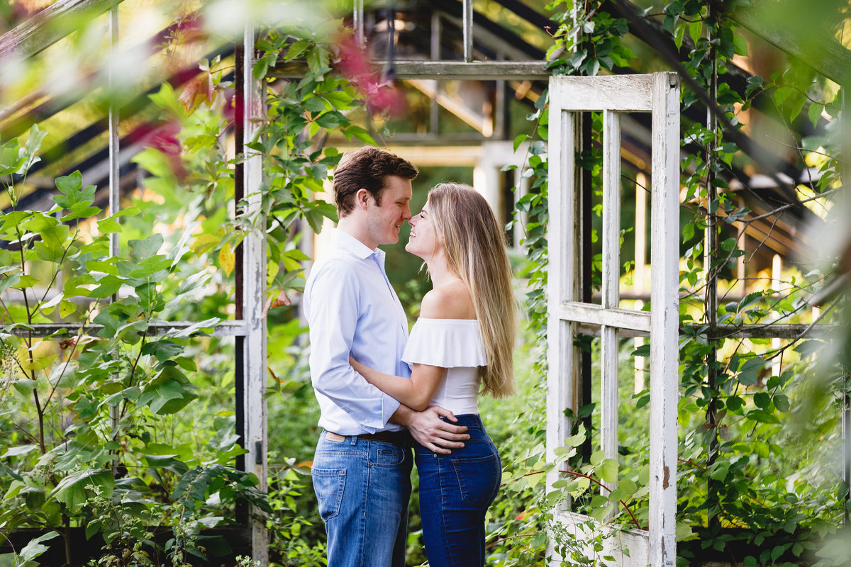 Philadelphia Engagement Session Greenhouse Outdoors 10