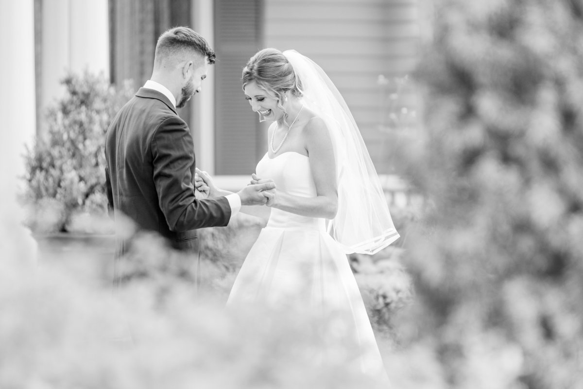 Bride and Groom at Maplehurst Farms Wedding
