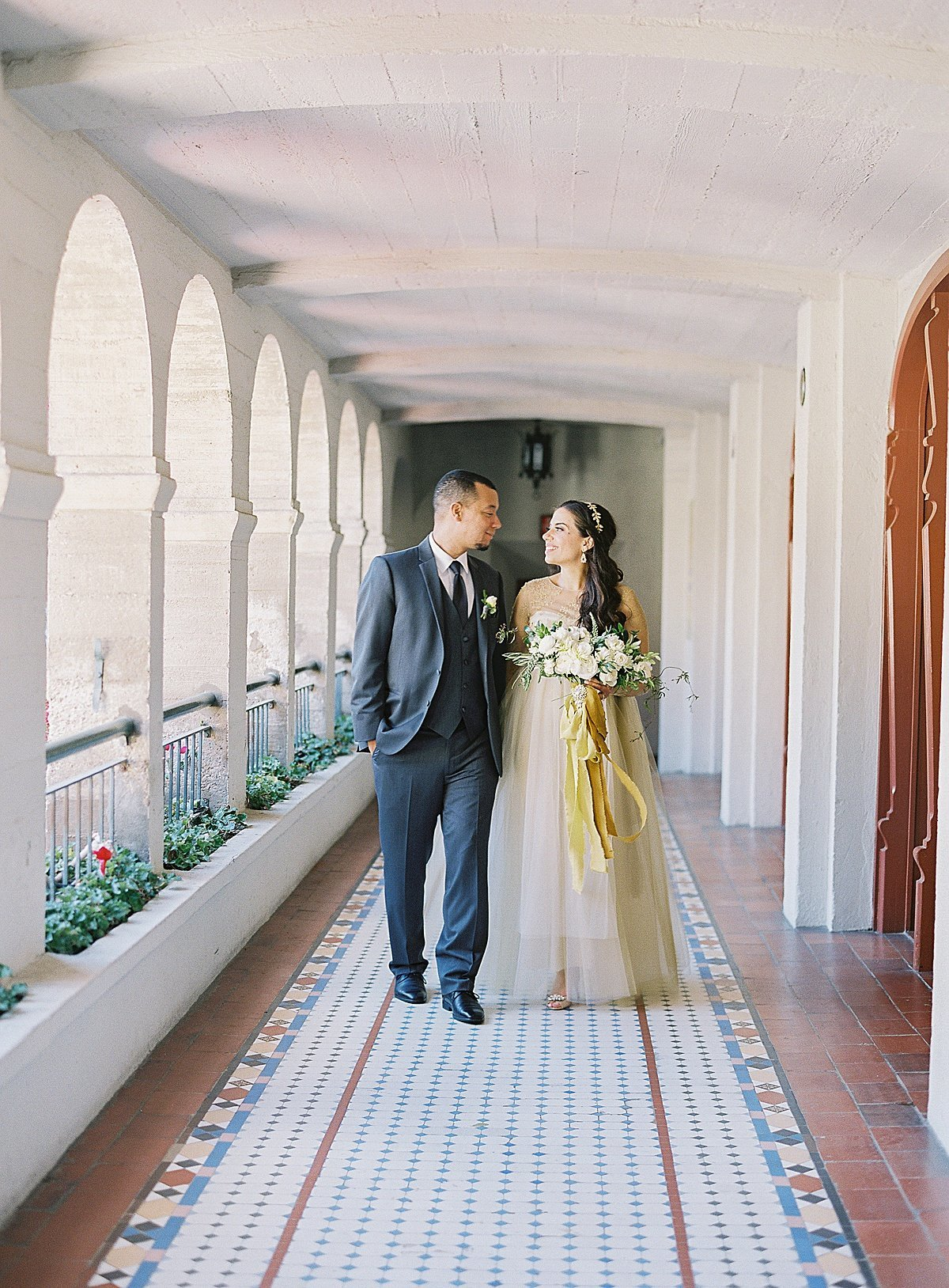 Posh Peony Mission Inn Lush Gray and Gold Greenery Wedding Flowers_0021