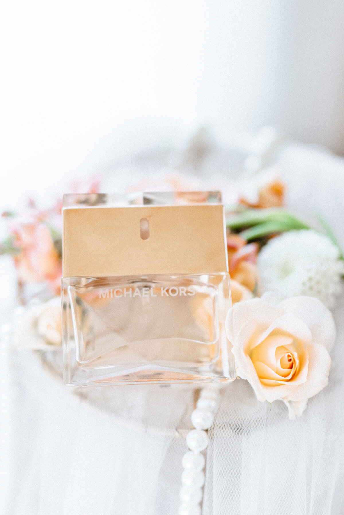 Michael Kors perfume wedding detail