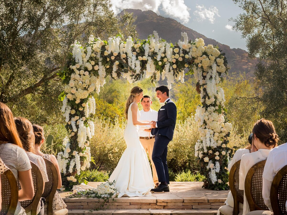 Elopement at El Chorro paradise Valley AZ