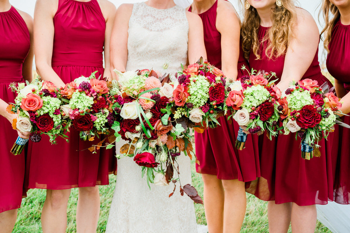 stunning fall wedding florals